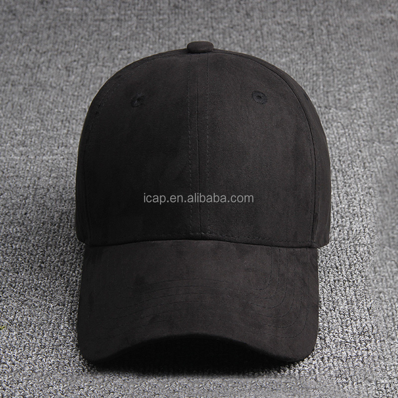 Custom unisex suede blank baseball cap made in China