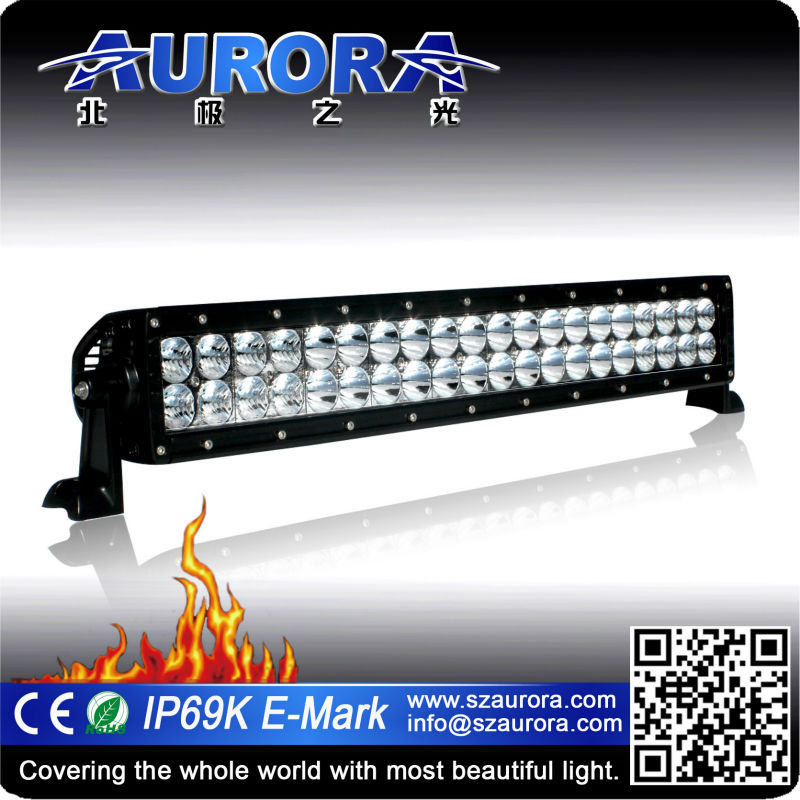 Aurora IP68&IP69K E-mark offroad car 20inch led light bar for truck