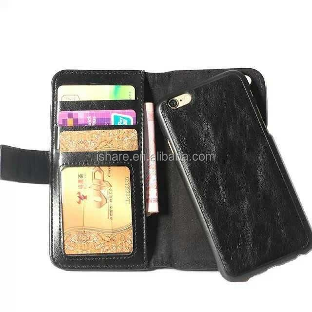 Genius Leather with Magnet Wallet Flip Leather Case For iPhone 6 plus 5.5''
