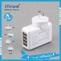 China factory oem 2100ma/3100mA/5400mA usb output worldwide Multi Plugs World Travel Adapter with USB Port