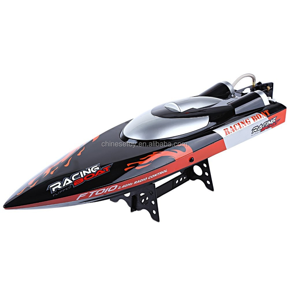 New Arrival Water Cooling System Righting Function High Speed Racing RC Boat For Sale FT010 2.4G RC Fishing Boat