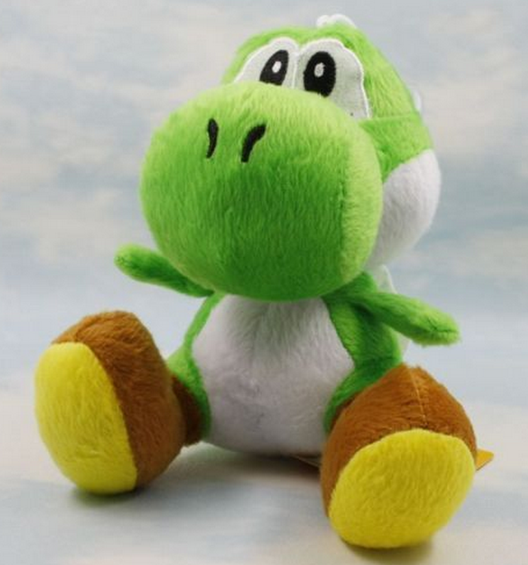 "Super Mario Green Yoshi Figure Plush Soft Toy with suck Stuffed Animal Doll 6"" 15cm"