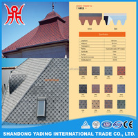 Color mahogany mosaic standard tile hexagonal asphalt shingle