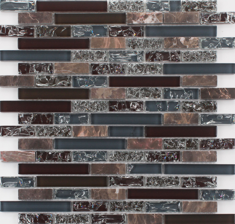 Free Sample Products House Design Cracked Glass Mosaic Tiles