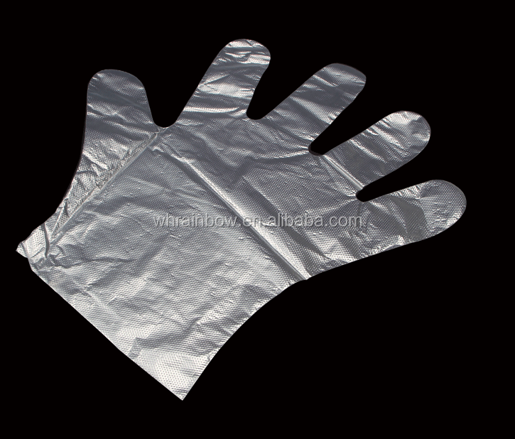 embossed or smooth disposable PE Glove <strong>used</strong> for food handling