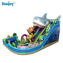 20 Foot 25 Foot Giant Splash Vertical Rush Inflatable Water Slide Parts Big High Shark Pool Slides For Inground Pools