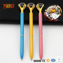 Office Roller Ball Pen Big Carat Gem Crystal Metal Ball Pen And Diamond Ballpoint Pen