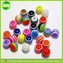 Colorful Bubblegum Beads 20mm Resin Bead Striped Resin Beads