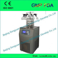 mini freeze drying machine LGJ-18S with Heating Shelf