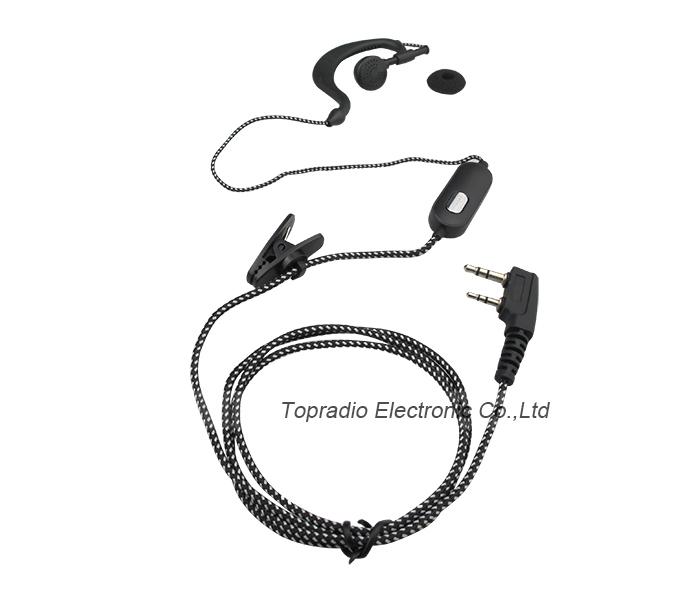 ear hook portable radio vhf earphone for kenwood th