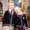 Custom uniforms wholesale primary school uniform girls uniform cardigan and skirt