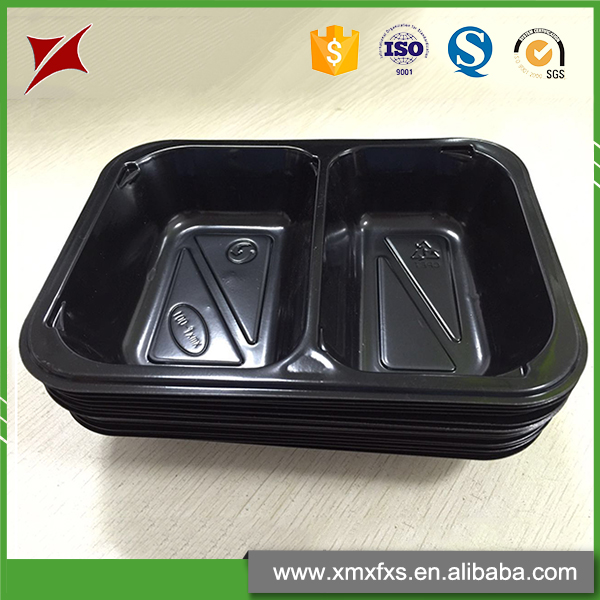 Quality microwave disposable CPET cheap plastic food compartment tray