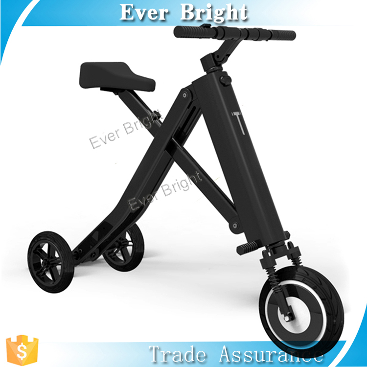 "China Guangzhou factory 2017 hot new products waterproof ""X"" shape safety folding bike 2 wheel or 3 wheel electric bicycle"