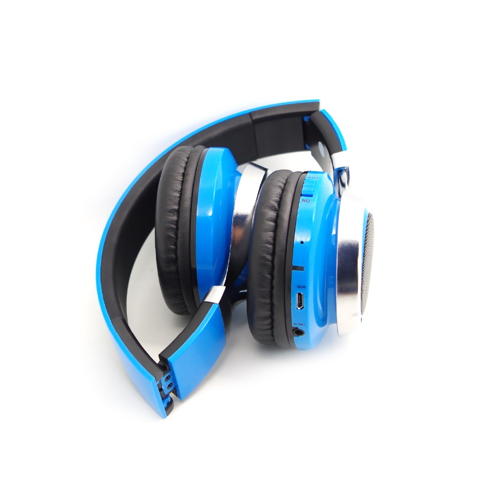 2018 ShenZhen Colorful LED light Bt Headset, Wireless Headset Headphone With FM Radio and TF card