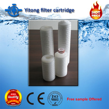 China supplier single ss304 316l filter cartridge pleated filter cartridge water filter