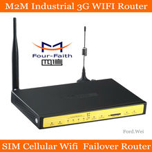 industrial m2m 3g wifi router with sim card slot with 4 LAN VPN 3g wireless router gsm with external antena