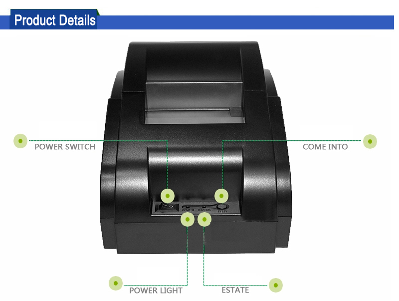 cheap mini 58mm thermal printer driver with USB port