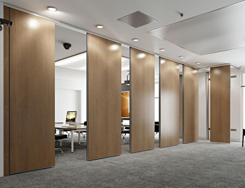 Fashion stijl houten beweegbare partitie kantoor beweegbare