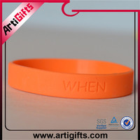 Eco-Friendly silicon material top brand silicone rubber bracelet