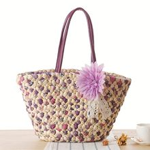 Designer Straw Bags Large Corn Husk Straw Basket