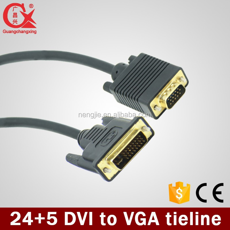 50m high quality VGA male to dvi male computer-projector cable made in china
