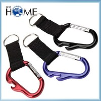 Cheap Custom Logo Lanyard Pretty Carabiner Keychain with Bottle Opener