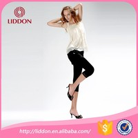 Ladies capris fashion black compression stockings lace trim velvet cotton tube sexy girls in tights