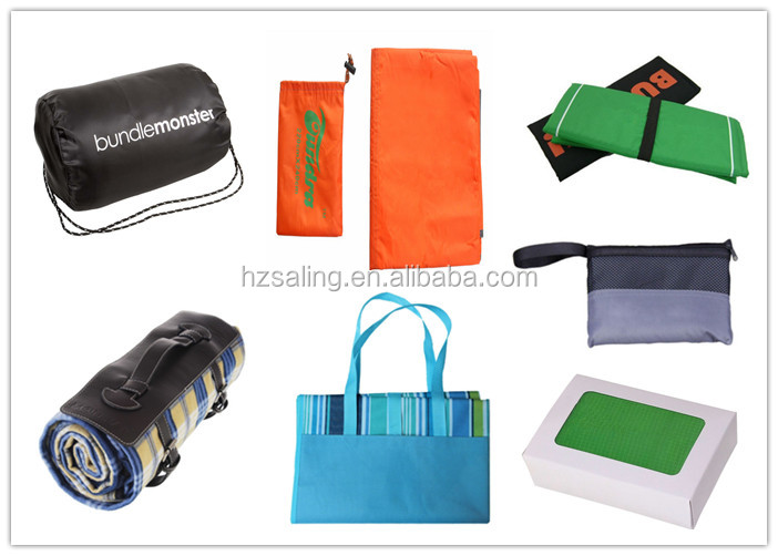 Outdoor Camping Gear, Oversized Mat, Shade Tarp , Picnic Throw and Beach Blanket with Nylon Tote Pouch & 4 Stakes / Pegs