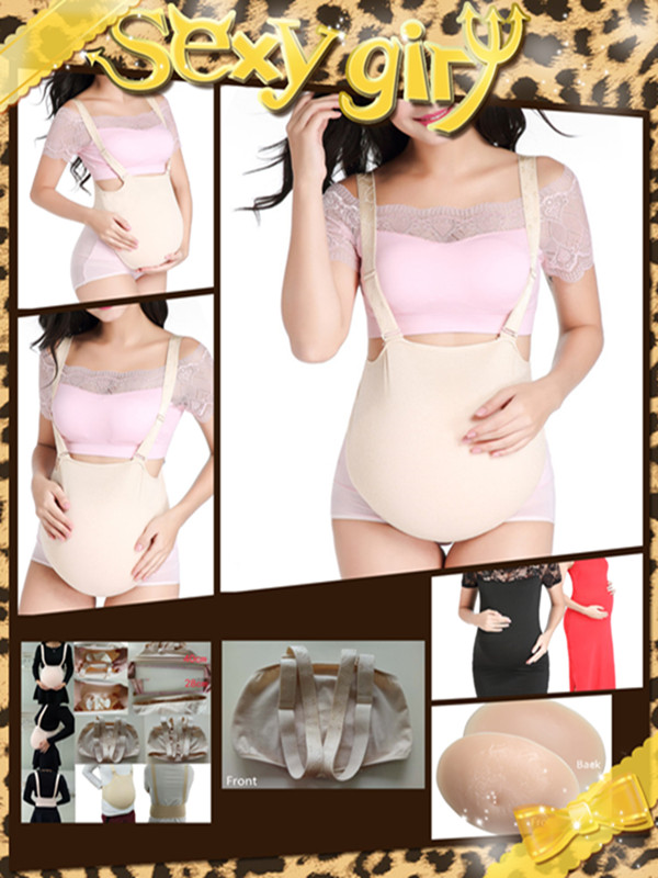 New Type Cloth Bag Belly Silicone Artificial Belly Fake Pregnant Belly for Crossdresser Wholesale