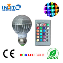 RGB color 5W A60 LED light bulbs + remote control