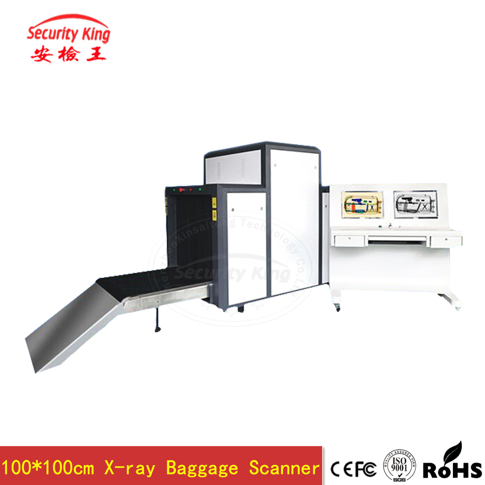 Channel Size 1000*1000mm Laggage Inspection System X - Ray Baggage Scanner Low Noise Metal Detectoe Machine For Airport XST -<strong>10</strong>