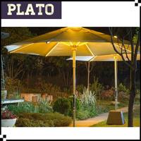 patio umbrella with led light, garden decoration umbrella, led outdoor parasol light
