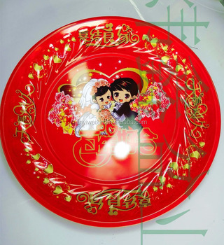 colorful weddig metal spray-paint plate with different pattern