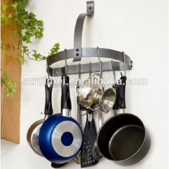 kitchen wall mount metal pot hooks rack
