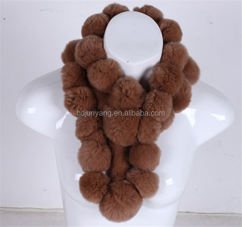 winter warm shawls/russia fur hat and scarf wine bottle wear/rabbit fur knitting scarf