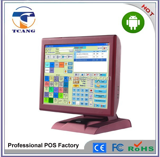 New Fanless Full Flat android POS terminal with reliable pos system