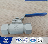 China produces high pressure two piece stainless steel ball valve