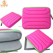 Brand new wholesale for ipad air 2 zipper foam sleeve case