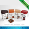 Printed cardboard chocolate packaging box with lid
