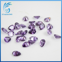 Wuzhou cz manufacturer with pear shape amethyst cz on sale