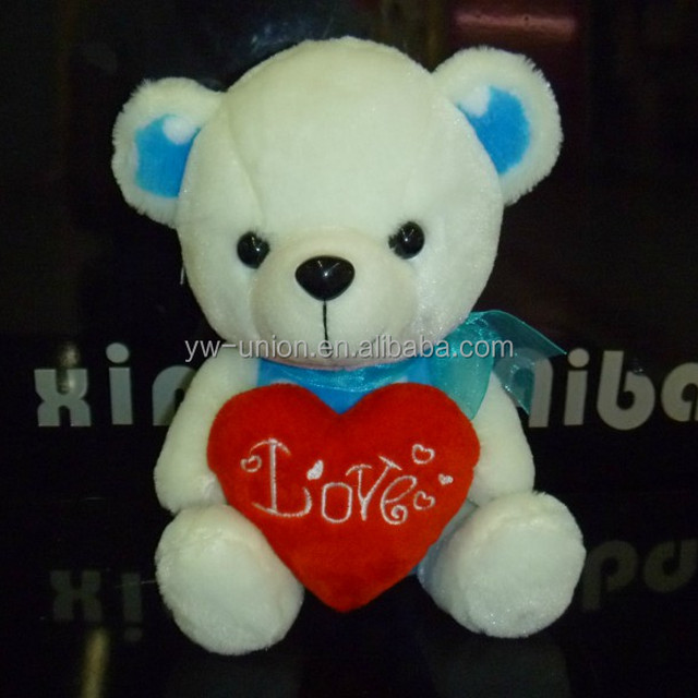 Love heart teddy gummy bear toy
