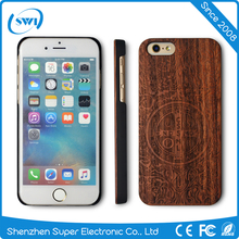 Import Art Wood Carving Cell Phone Accessories for iPhone 6 6S,Nature Wood Laser Carving PC Case for iPhone 6 6S