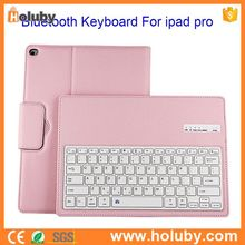 Alibaba Paypal Wholesale Detachable Case Keyboard for iPad Pro, For iPad Pro Leather Case Bluetooth Keyboard