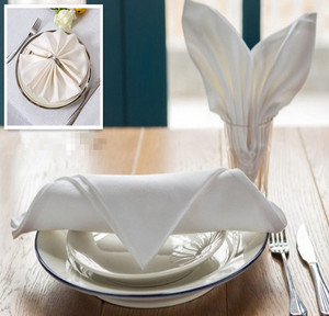 Cotton Polyester Blend White Cloth 50/50 Poly Cotton Napkins For Hotels And Restaurant