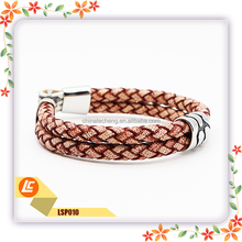 2016 Personalized Leather Cuff Hook Bracelets Wholesale Made from Guangzhou
