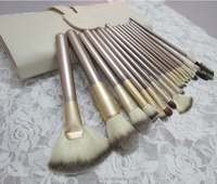 18pcs long handle Private Label make up Brushes set foundation powder blush lip eyebrow cosmetic makeup brush