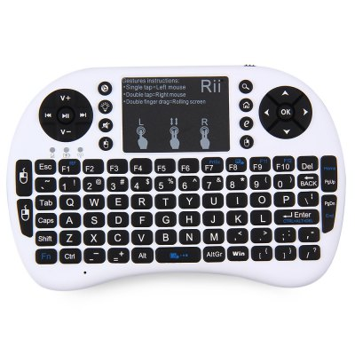 Genuine Rii i8+ Multi function 2.4GHz Wireless Touchpad QWERTY Keyboard for Android Box