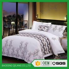 Alibaba supplier hotel American size bed sheet set/China made 5 star hotel spanish style bedding