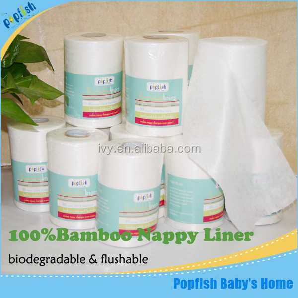 Alibaba Supplier Disposable Natural Oganic Bamboo Viscose Flushable Nice Biodegradable Baby Diaper