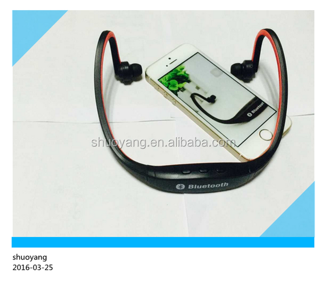 After hanging wireless Bluetooth headset wireless sport MP3 stereo dynamic headphones